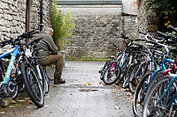 Pictured: A bicycle repair shop in Cowbridge, Wales, UK/ Wednesday 06 November 2019<br /> Re: People in Cowbridge share their views after the Vale of Glamorgan MP Alun Cairns announced that he has resigned from his role as a Secretary for Wales.
