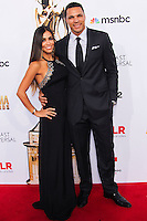 PASADENA, CA, USA - OCTOBER 10: Tony Gonzalez, October Gonzalez arrive at the 2014 NCLR ALMA Awards held at the Pasadena Civic Auditorium on October 10, 2014 in Pasadena, California, United States. (Photo by Celebrity Monitor)