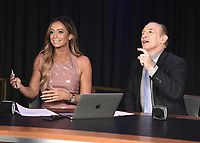 LAS VEGAS - NOVEMBER 20:  Kate Abdo and Ray Mancini at the press conference for the November 23 fight on the Fox Sports PBC Pay-Per-View fight night on September 20, 2019 in. Las Vegas, Nevada. (Photo by Scott Kirkland/Fox Sports/PictureGroup)