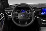 Car pictures of steering wheel view of a 2020 Ford Explorer XLT 5 Door SUV Steering Wheel