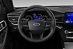 Car pictures of steering wheel view of a 2020 Ford Explorer XLT 5 Door SUV Steering Wheel