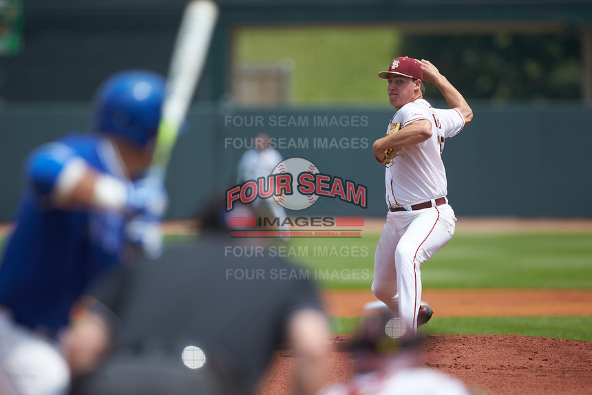 Florida State Seminoles starting pitcher Cole Sands (26) in action against the Duke Blue Devils in the first semifinal of the 2017 ACC Baseball Championship at Louisville Slugger Field on May 27, 2017 in Louisville, Kentucky. The Seminoles defeated the Blue Devils 5-1. (Brian Westerholt/Four Seam Images)