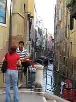 ITALY--VENICE--Gondoliers