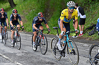 5th June 2021; La Plagne, Tarentaise, France;  LUTSENKO Alexey (KAZ) of ASTANA - PREMIER TECH and PORTE Richie (AUS) of INEOS GRENADIERS in action during stage 7 of the 73th edition of the 2021 Criterium du Dauphine Libere cycling race, a stage of 171km with start in Saint-Martin-Le-Vinoux and finish in La Plagne