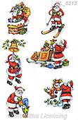 Interlitho-Theresa, CHRISTMAS SANTA, SNOWMAN, WEIHNACHTSMÄNNER, SCHNEEMÄNNER, PAPÁ NOEL, MUÑECOS DE NIEVE, paintings+++++,6 santas,KL6213,#x# ,sticker,stickers