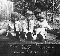 BNPS.co.uk (01202 558833)<br /> Pic: SusanBond/BNPS<br /> <br /> Susan Bond's father (Peter-2nd right)) and his brothers in 1927 - Philip and Richard were both killed in WW2, younger brother Christopher was to young to take part but later became a test pilot.<br /> <br /> Military museum in hot water over missing medals..<br /> <br /> A woman whose father and grandfather donated their highly-valuable gallantry medals to an army museum is furious they have disappeared having been suspiciously substituted for duplicates.<br /> <br /> Susan Bond, whose husband Richard is a retired crown court judge, discovered the two Military Cross groups at the The Royal Green Jackets Museum are not the ones bequeathed to them after one set appeared on the open market.<br /> <br /> Mrs Bond confronted the trustees at the museum, whose former Colonel-in-Chief was the Queen, but the 70-year-old has been left dismayed at their 'indifferent' response at the loss which they have been unable to properly explain.<br /> <br /> The owners - the museum based in Winchester, Hants - said they were satisfied that no criminal activity had taken place and the police investigation came to nothing.
