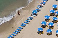 Asie/Israel/Tel-Aviv-Jaffa: la plage et le front de mer vu depuis la terrasse de l'Hotel Hilton - Parc de l'Indépendance