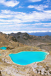 New Zealand, North Island, Tongariro NP, Emerald Lakes