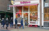 Nederland Amsterdam 2017 . Nutella ijswinkel Delicious op de Nieuwmarkt. Foto Berlinda van Dam / Hollandse Hoogte