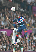 July 26, 2012..Britain's Marvin Sordell (17). Great Britain vs Senegal Football match during 2012 Olympic Games at Old Trafford in Manchester, England. Senegal held Great Britain to a 1-1 draw...(Credit Image: © Mo Khursheed/TFV Media)