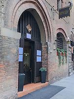 The entrance of Pappagallo, Bologna. The Pappagallo Restaurant in Bologna was established in 1919. It continues to serve traditional Bolognese cuisine. Photo Sydney Low