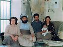 Iran 1984 .Hama Haji Mahmoud and his wife, Tamin with visitors in Merivan.Iran 1984 .Hama Haji Mahmoud  et sa femme , Tamin, recevant des visiteurs a Merivan