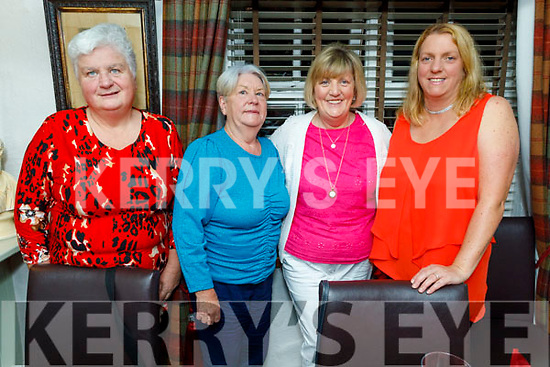 Triona Houlihan, Joan Fitzgerald, Madeline Brosnan and Susan Lacey enjoying the evening in Cassidys on Saturday.