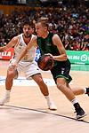Liga ENDESA 2019/2020. Game: 01.<br /> Club Joventut Badalona vs Real Madrid: 69-88.<br /> Nico Laprovittola vs Arturs Zagars.