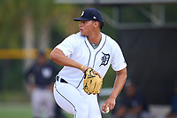 FCL Tigers West pitcher Cristhian Tortosa (22) during a game against the FCL Yankees on July 31, 2021 at Tigertown in Lakeland, Florida.  (Mike Janes/Four Seam Images)