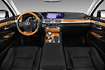 Stock photo of straight dashboard view of 2016 Lexus LS 600h L 4 Door Sedan Dashboard