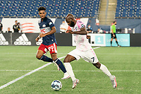 FOXBOROUGH, MA - SEPTEMBER 04: Don Smart #7 Forward Madison FC advances the ball down the field during a game between Forward Madison FC and New England Revolution II at Gillette Stadium on September 04, 2020 in Foxborough, Massachusetts.