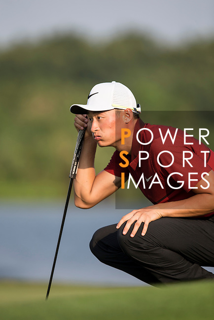 Li Haotong of China plays during the World Celebrity Pro-Am 2016 Mission Hills China Golf Tournament on 23 October 2016, in Haikou, Hainan province, China. Photo by Victor Fraile / Power Sport Images