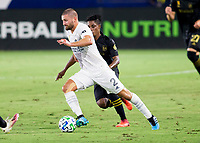 CARSON, CA - SEPTEMBER 06: Perry Kitchen #2 of the Los Angeles Galaxy moves with the ball during a game between Los Angeles FC and Los Angeles Galaxy at Dignity Health Sports Park on September 06, 2020 in Carson, California.