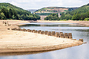 11/07/18<br /> <br /> Rarely seen remains of a railway built to take stone to build the dams in 1901 can be seen above the water level on Derwent Reservoir.<br /> <br /> Water levels in the Derbyshire Peak District have dropped to reveal a landscape close to how it would have looked before the Howden, Derwent and Ladybower dams were built in the early 1900s and 1940s. <br /> <br /> All Rights Reserved, F Stop Press Ltd. (0)1335 344240 +44 (0)7765 242650  www.fstoppress.com rod@fstoppress.com