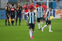 4th July 2021; Arena do Gremio, Porto Alegre, Brazil; Brazilian Serie A, Gremio versus Atletico Goianiense; Léo Chú of Grêmio laments after the match