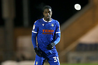 Michael Folivi of Colchester United during Colchester United vs Crawley Town, Sky Bet EFL League 2 Football at the JobServe Community Stadium on 1st December 2020