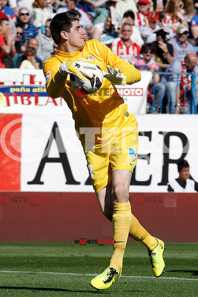 Atletico de Madrid's Thibaut Courtois during La Liga match.April 14,2013. (ALTERPHOTOS/Acero)