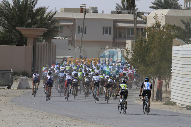 The start of Stage 4 of the 2012 Tour of Qatar from Al Thakhira to Madinat Al Shamal, Qatar. 8th February 2012.<br /> (Photo Eoin Clarke/Newsfile)