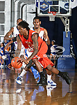 Sam Houston State Bearkats guard Nafis Richardson (22) in action during the game between the UTA Mavericks and the Sam Houston State Bearkats held at the University of Texas at Arlington's, Texas Hall, in Arlington, Texas. Sam Houston defeats UTA 78 to 74