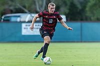STANFORD, CA - August 19, 2014: Jordan Morris during the Stanford vs CSU Bakersfield men's exhibition soccer match in Stanford, California.  Stanford won 1-0.