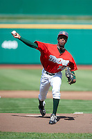 Fort Wayne TinCaps pitcher Erik Cabrera #23 during a Midwest League game against the Dayton Dragons at Parkview Field on August 19, 2012 in Fort Wayne, Indiana.  Dayton defeated Fort Wayne 5-1.  (Mike Janes/Four Seam Images)