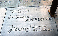 Los Angeles: Grauman;s Chinese--Jean Harlow's Signature. Photo '78.