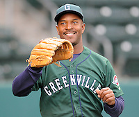 April 2, 2008: Coach Billy McMillon of the Greenville Drive, Class A affiliate of the Boston Red Sox, during Media Day at Fluor Field at the West End in Greenville, S.C. McMillon was named 2010 manager of the Drive on Dec. 22, 2009. Photo by:  Tom Priddy/Four Seam Images