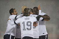 Commerce City,  Co - Friday, March 22, 2013: USA 1-0 over Costa Rica at Dick's Sporting Goods Park during World Cup Qualifying. Clint Dempsey celebrates his goal with his team.