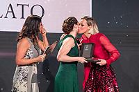Geppi Cucciari Benedetta Pilato Andrea Monti Federica Pellegrini<br /> Gazzetta Sports Awards<br /> Milano 18/12/2019 <br /> <br /> Photo Diego Montano Deepbluemedia /insidefoto