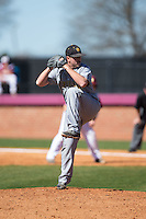 Kennesaw State Owls relief pitcher Cole McArthur (18) in action against the Winthrop Eagles at the Winthrop Ballpark on March 15, 2015 in Rock Hill, South Carolina.  The Eagles defeated the Owls 11-4.  (Brian Westerholt/Four Seam Images)