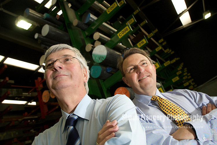 Pix: Shaun Flannery/sf-pictures.com..COPYRIGHT PICTURE>>SHAUN FLANNERY>01302-570814>>07778315553>>..14th October 2008...........Pictured are David Bentley (yellow tie), Director of NetConstruct with Alistair Laing of Hytemp Nicol Ltd, Sheffield.