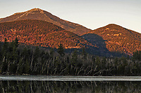 Sunset On Whiteface Mt With Connery Pond In The Foreground In The Adirondack Mountains Of New York State