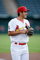 Springfield Cardinals shortstop Alex Mejia (7) before a game against the Corpus Christi Hooks on May 31, 2017 at Hammons Field in Springfield, Missouri.  Springfield defeated Corpus Christi 5-4.  (Mike Janes/Four Seam Images)