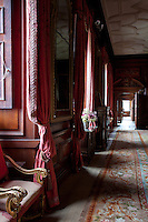 Enfilade leading through the drawing room and anteroom to the state bedchamber in Drumlanrig Castle
