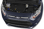 Car Stock 2015 Ford Grand Tourneo Connect Titanium 5 Door Minimpv Engine high angle detail view
