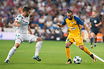 Real Madrid's Nacho Fernandez and Apoel's Stathis Aloneftis during UEFA Champions League match between Real Madrid and Apoel at Santiago Bernabeu Stadium in Madrid, Spain September 13, 2017. (ALTERPHOTOS/Borja B.Hojas)