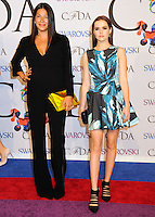 NEW YORK CITY, NY, USA - JUNE 02: Rebecca Minkoff and Zoey Deutch arrive at the 2014 CFDA Fashion Awards held at Alice Tully Hall, Lincoln Center on June 2, 2014 in New York City, New York, United States. (Photo by Celebrity Monitor)