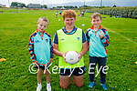 Enjoying the Cúl Camps in Churchill on Tuesday, l to r: Billy Harty (Coach), Sam McCarthy and Sean Hallanan.