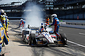 Verizon IndyCar Series<br /> IndyCar Grand Prix<br /> Indianapolis Motor Speedway, Indianapolis, IN USA<br /> Saturday 13 May 2017<br /> Ed Jones, Dale Coyne Racing Honda, pit stop<br /> World Copyright: Michael L. Levitt<br /> LAT Images