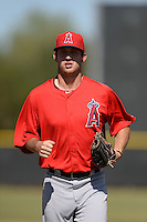 Los Angeles Angels outfielder Riley Good (24) during an Instructional League game against the Milwaukee Brewers on October 11, 2013 at Tempe Diablo Stadium Complex in Tempe, Arizona.  (Mike Janes/Four Seam Images)