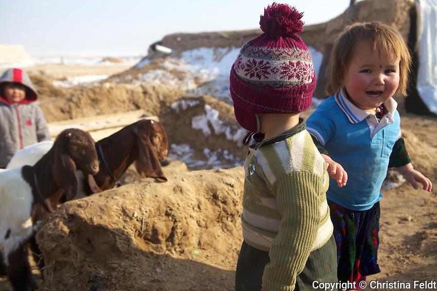 Children at Qalin Bafan Returnee Site, North Afghanistan