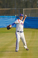 Whiteville High School Wolfpack pitcher MacKenzie Gore (1) throwing in the outfield before a game against the South Columbus High School Stallions at Legion Stadium on March 28, 2017 in Whiteville, North Carolina. Whiteville defeated South Columbus 3-2. (Robert Gurganus/Four Seam Images)