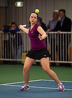 Rotterdam, The Netherlands, 07.03.2014. NOJK ,National Indoor Juniors Championships of 2014, 12and 16 years, Liza Lebedzeva (NED)<br /> Photo:Tennisimages/Henk Koster