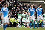 St Johnstone v Celtic…05.02.17     SPFL    McDiarmid Park<br />Moussa Dembele celebrates his second goal<br />Picture by Graeme Hart.<br />Copyright Perthshire Picture Agency<br />Tel: 01738 623350  Mobile: 07990 594431